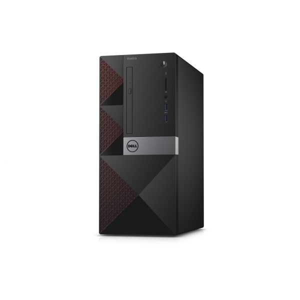 Dell Vostro 3650 Mini Tower Desktop (Tahoe). Mainstream version with red mesh accent color.
