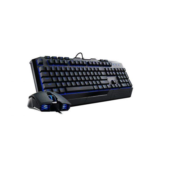 Клавиатура с подсветка и мишка CM Storm Devastator II Blue Version (Cooler Master). Геймърски комплект, аксесоари за компютър